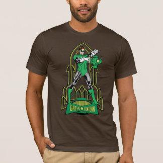 Lanterne verte sur l'arrière - plan décoratif t-shirt