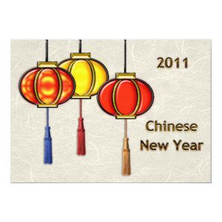 Lanternes chinoises de nouvelle année bristols personnalisés