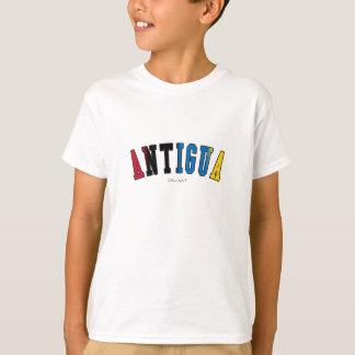 L'Antigua dans des couleurs de drapeau national T-shirt