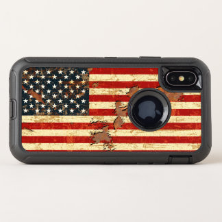 L'antiquité s'est rouillée le drapeau américain