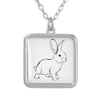 Lapin adorable de bande dessinée douce de lapin colliers personnalisés