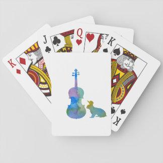 Lapin avec l'art d'alto cartes à jouer
