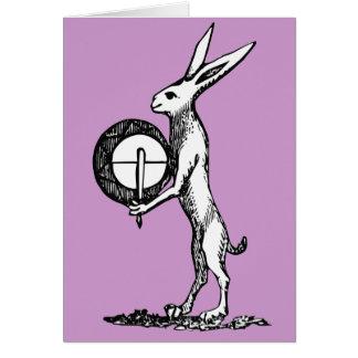 Lapin avec le tambour cartes