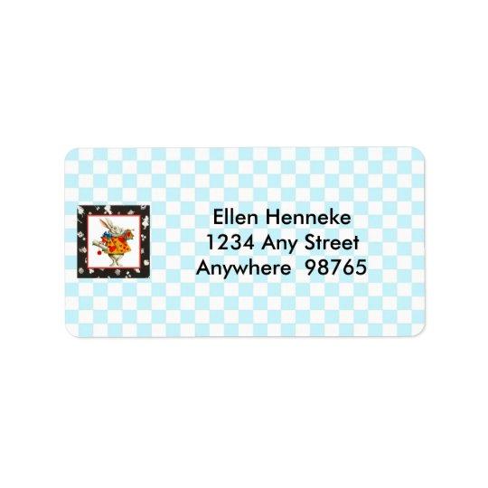Lapin blanc 2 étiquette d'adresse