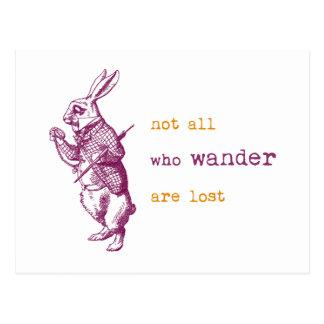 Lapin blanc, Alice au pays des merveilles Carte Postale