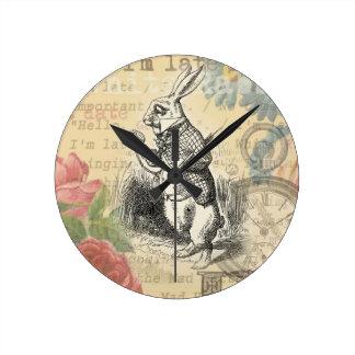 Alice pays merveilles horloges alice pays merveilles horloges murales - Lapin d alice au pays des merveilles ...