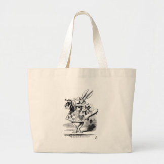 Lapin blanc grand tote bag