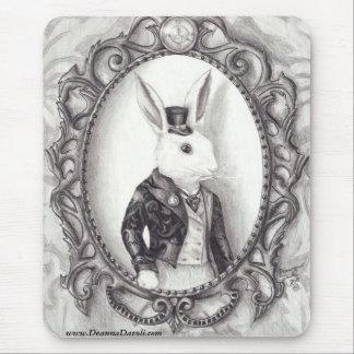 Lapin blanc Mousepad Alice au pays des merveilles Tapis De Souris