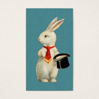 Lapin blanc vintage cartes de visite