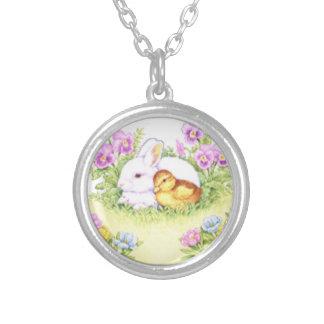 Lapin, caneton et fleurs de Pâques Bijouterie