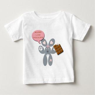 lapin chocolat t-shirt pour bébé