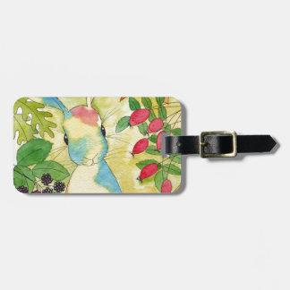 Lapin d'automne par art de menthe poivrée étiquette à bagage