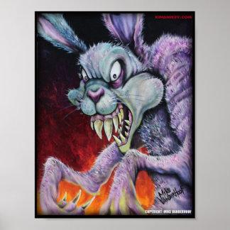 Lapin de drogues - impression couleur poster