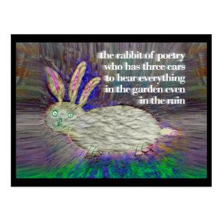 Lapin de la poésie [carte postale] cartes postales