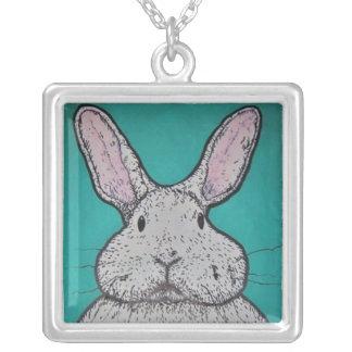 Lapin de lapin pendentif carré
