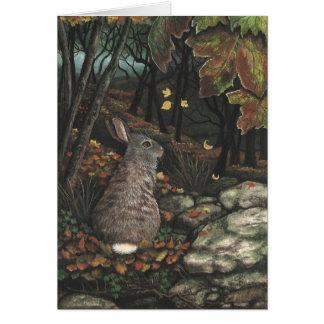 Lapin de lapin de faune par la carte de BiHrLe