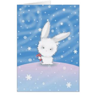 Lapin de neige de carte de lapin de Chistmas