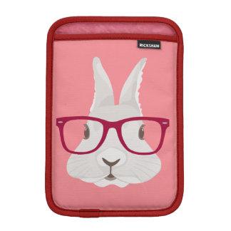 Lapin de Pâques drôle de hippie avec les verres Housses iPad Mini
