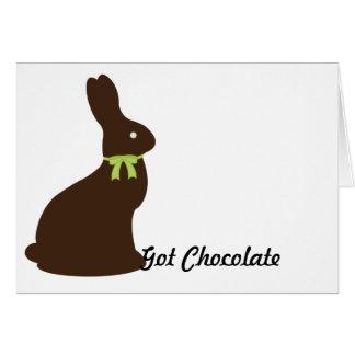 Lapin de Pâques obtenu de chocolat Cartes