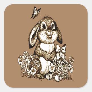 Lapin de Pâques Sticker Carré