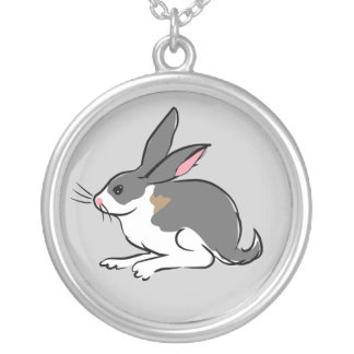 Lapin d'or pendentif rond
