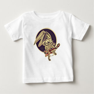 lapin doux de lapin drôle jouant la bande dessinée t-shirt pour bébé