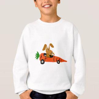 Lapin drôle de ventres conduisant la bande sweatshirt