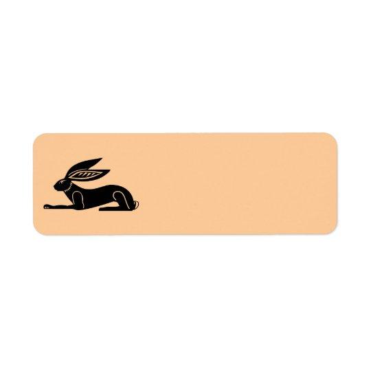 Lapin égyptien étiquette d'adresse retour