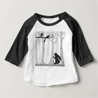 Lapin et oiseau t-shirt pour bébé