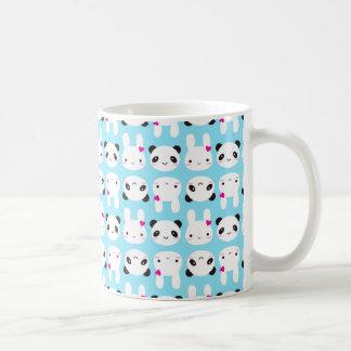 Lapin et panda mignons superbes de Kawaii Mug Blanc