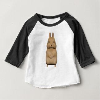 Lapin mignon et beau t-shirt pour bébé