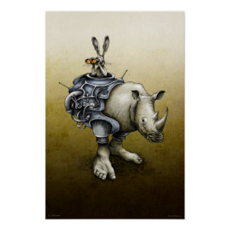 Lapin-Rhinocéros Posters