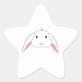 Lapin triste sticker étoile