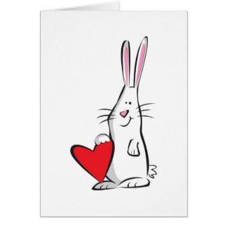 Lapin Valentine d'amour Cartes