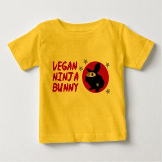 Lapin végétalien de Ninja T-shirt Pour Bébé