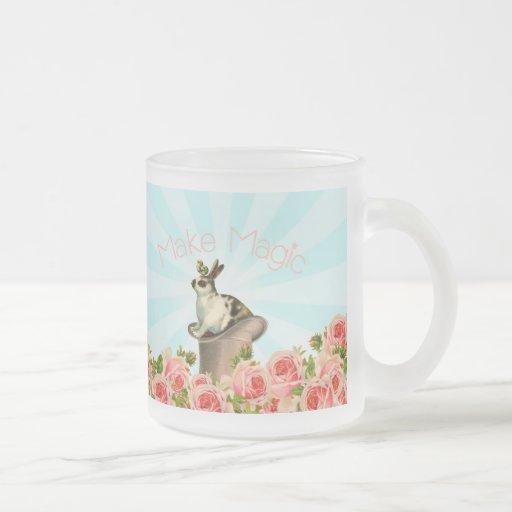Lapin vintage et roses mugs