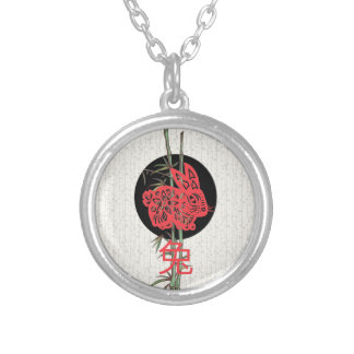 Lapin (zodiaque chinois) pendentif personnalisé