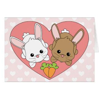 Lapins d'amour carte de vœux