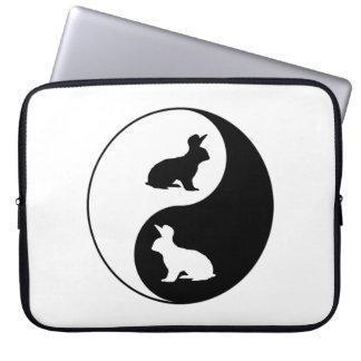 Lapins de Yin Yang Trousses Pour Ordinateur Portable