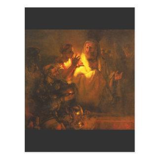 L'apôtre Peter a nié le Christ par Rembrandt Cartes Postales