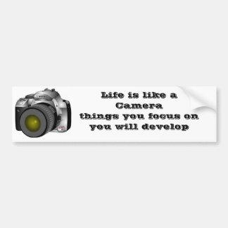 l'appareil-photo, la vie est comme un Camerathings Autocollant Pour Voiture