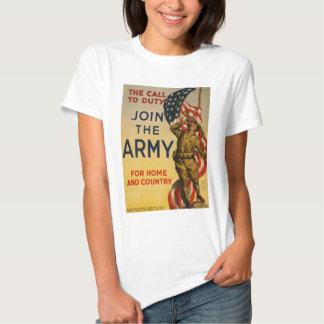 L'appel au devoir - joignez l'armée t-shirt