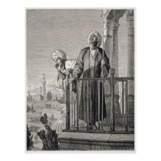 L'appel du muezzin à la prière, 19ème siècle cartes postales