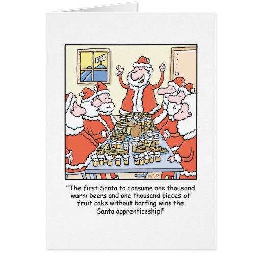 L'apprentissage de Père Noël de bande dessinée de Carte De Vœux