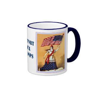 L'appui de ~ de drapeau américain nos troupes mug