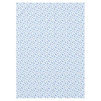 """L'aquarelle bleue repère la nappe 60"""" x 84"""""""