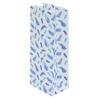 L'aquarelle bleue repère le sac mat de vin
