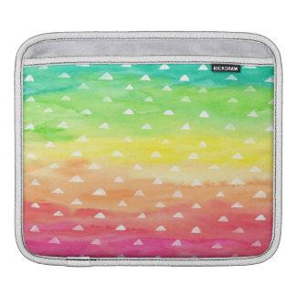 L'aquarelle colorée barre les triangles blanches poches iPad