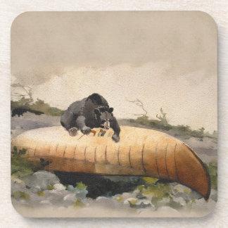 L'aquarelle concernent une peinture vintage de dessous-de-verre