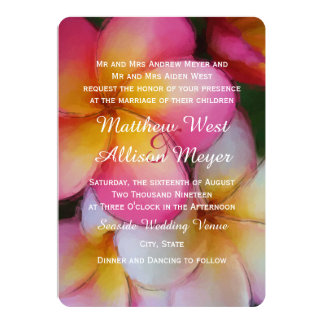 L'aquarelle de Plumeria de Frangipani fleurit le Carton D'invitation 12,7 Cm X 17,78 Cm